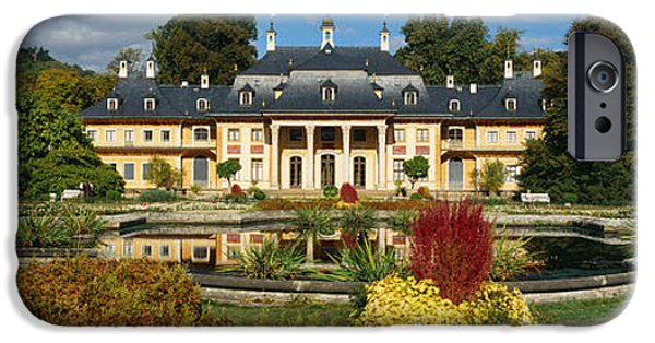 Formal Garden In Front Of A Castle IPhone Case by Panoramic Images