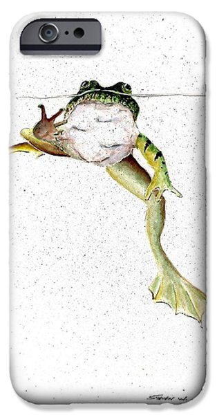Frog On Waterline IPhone 6s Case by Steven Schultz
