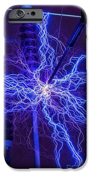 High Voltage Electrical Discharge IPhone Case by David Parker