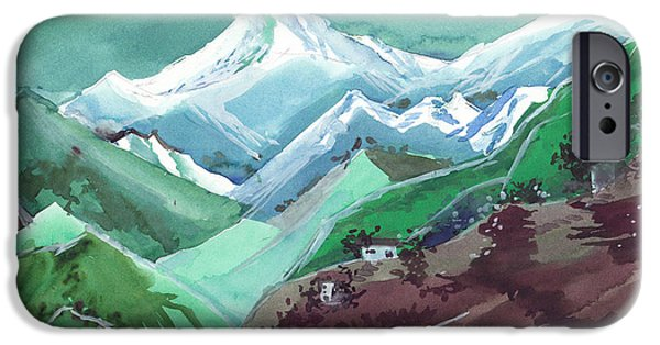 Himalaya 2 IPhone Case by Anil Nene
