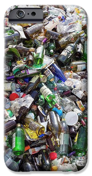 Household Waste At A Recycling Plant IPhone Case by Jim West