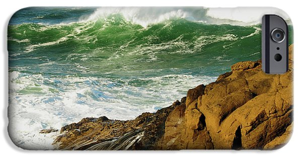 Incoming Tide At Yachats, Yachats IPhone Case by Michel Hersen