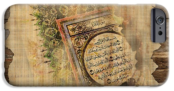 Islamic Calligraphy 037 IPhone Case by Catf
