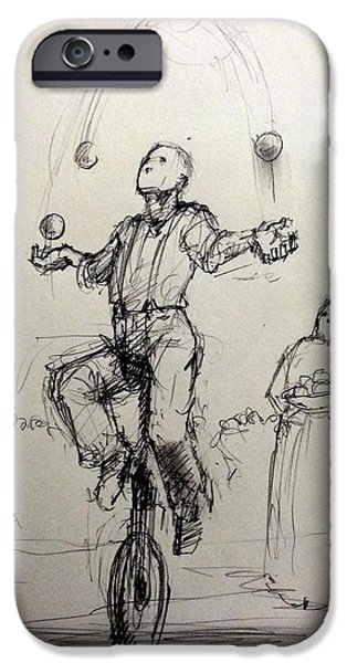 Juggler IPhone Case by H James Hoff