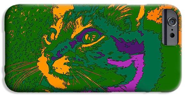 Jungle Cat IPhone 6s Case by Hanza Turgul