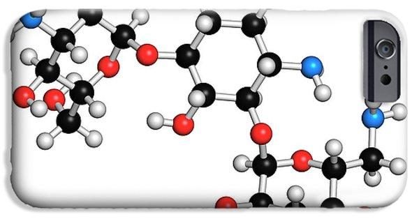Kanamycin Antibiotic Drug Molecule IPhone Case by Molekuul