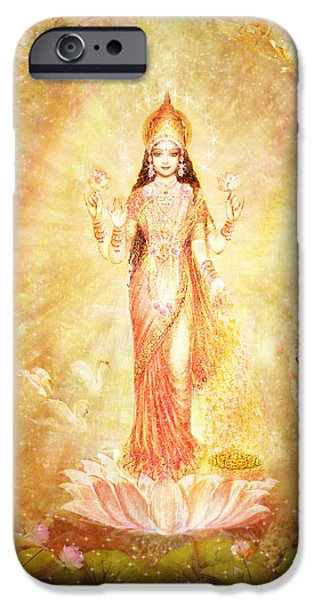 Lakshmi With Angels And Muses IPhone Case by Ananda Vdovic