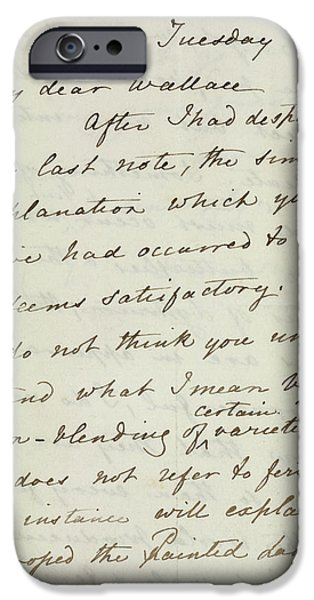 Letter Of Charles Darwin IPhone Case by British Library