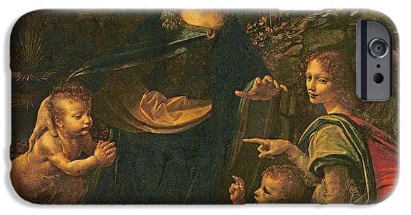 Madonna Of The Rocks IPhone Case by Leonardo da Vinci