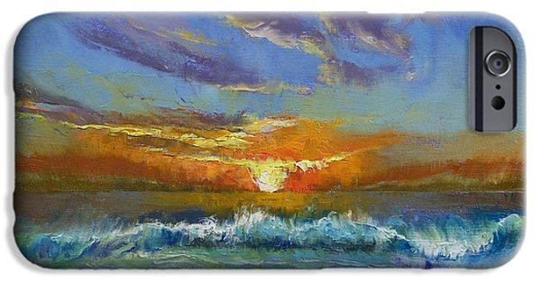 Malibu Beach Sunset IPhone Case by Michael Creese