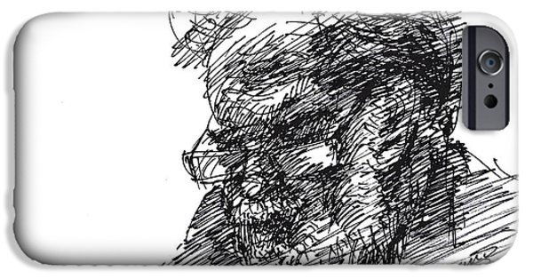 Man In The Corner IPhone Case by Ylli Haruni