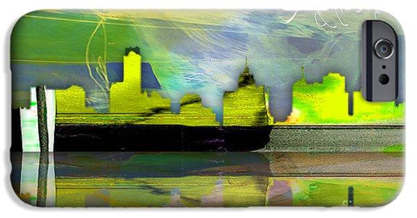 Melbourne Australia Skyline Watercolor IPhone 6s Case by Marvin Blaine