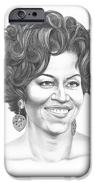 Michelle Obama IPhone Case by Murphy Elliott