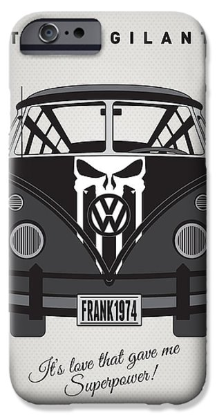 My Superhero-vw-t1-punisher IPhone Case by Chungkong Art