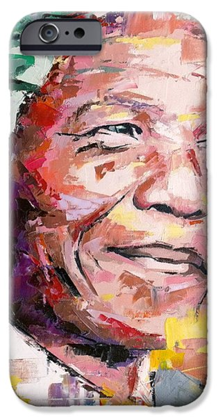 Nelson Mandela IPhone Case by Richard Day