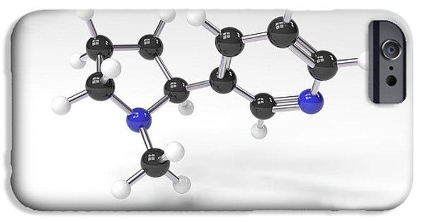 Nicotine Molecule IPhone Case by Indigo Molecular Images
