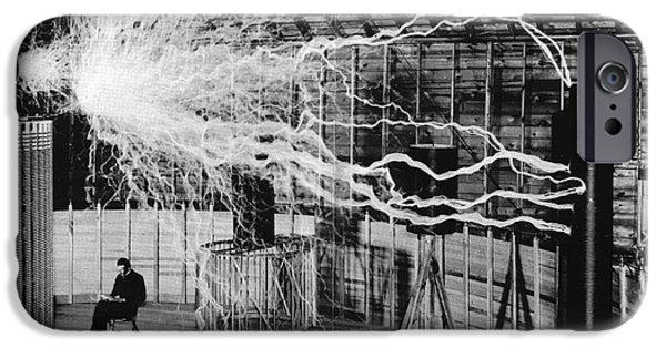 Nikola Tesla Serbian-american Inventor IPhone Case by Science Source