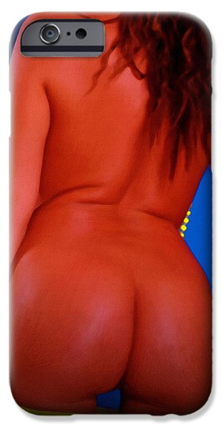 Nude Girl IPhone Case by Michael Vicin