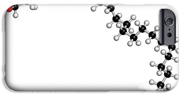 Octacosanol Plant Wax Component Molecule IPhone Case by Molekuul