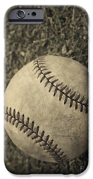 Old Baseball IPhone Case by Edward Fielding