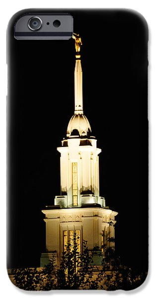 Payson Temple  IPhone Case by Gloria Pasko