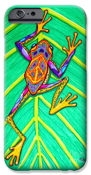 Peace Frog IPhone Case by Nick Gustafson