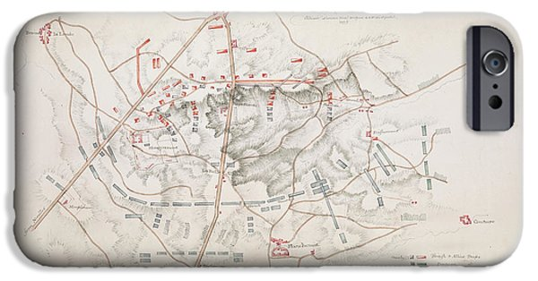 Plan Of The Battle Of Waterloo IPhone Case by British Library
