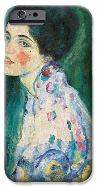 Portrait Of A Young Woman IPhone Case by Gustav Klimt