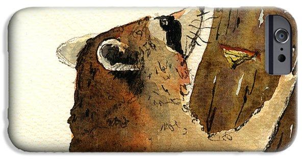 Raccoon On Tree IPhone 6s Case by Juan  Bosco
