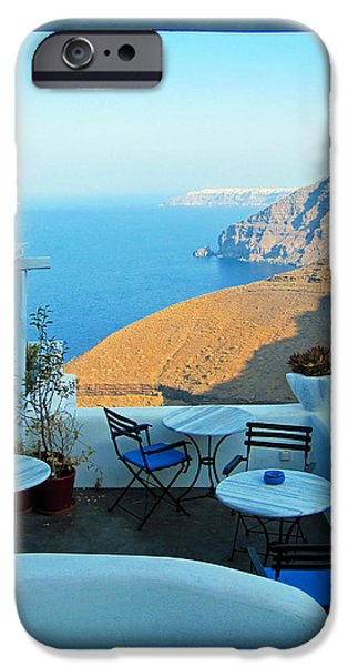 Resting Place In Santorini IPhone Case by Alexandros Daskalakis