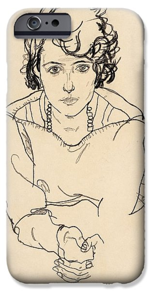 Seated Woman IPhone Case by Celestial Images