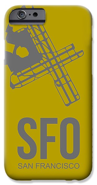 Sfo San Francisco Airport Poster 2 IPhone Case by Naxart Studio