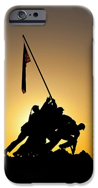 Silhouette Of Iwo Jima Memorial IPhone Case by Brian Jannsen