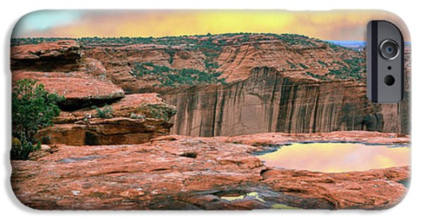 Slickrock Waterpocket Pools Reflect IPhone Case by Panoramic Images