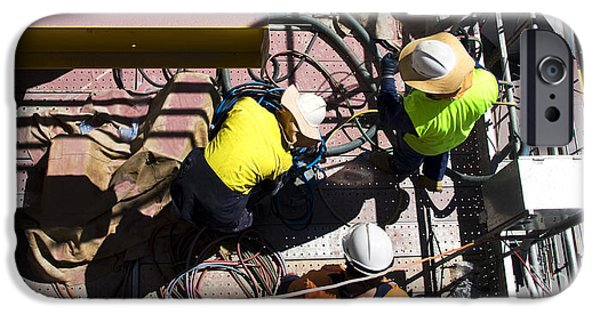 Sorting Electrical Cords IPhone Case by Jorgo Photography - Wall Art Gallery