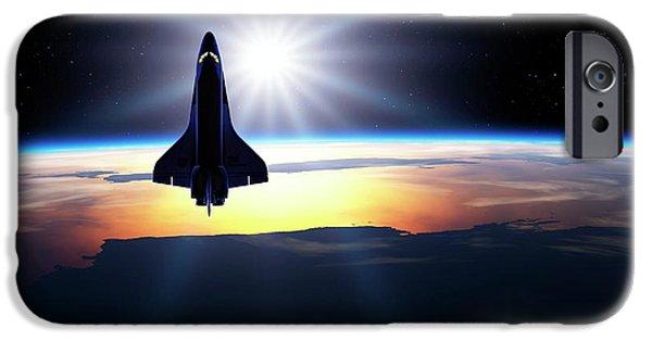 Space Shuttle In Orbit IPhone 6s Case by Detlev Van Ravenswaay