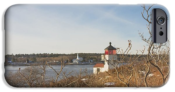 Squirrel Point Lighthouse Kennebec River Maine IPhone Case by Keith Webber Jr