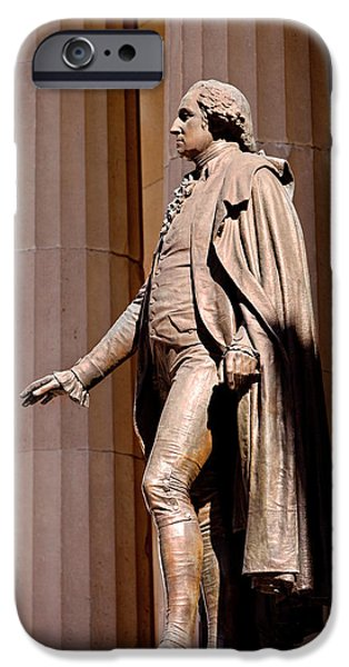 Statue Of George Washington At The Site IPhone Case by Brian Jannsen