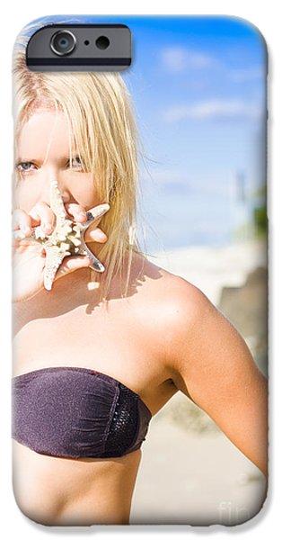 Summer Beach Babe IPhone Case by Jorgo Photography - Wall Art Gallery