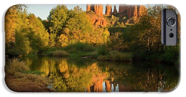 Sunset, Reflections, Oak Crek IPhone Case by Michel Hersen