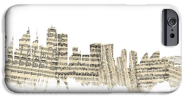 Sydney Australia Skyline Sheet Music Cityscape IPhone 6s Case by Michael Tompsett