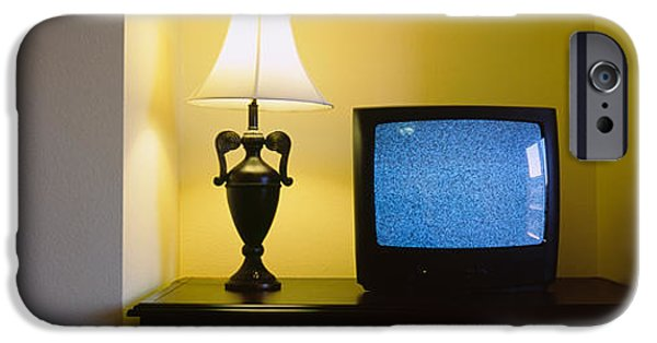 Television And Lamp In A Hotel Room IPhone Case by Panoramic Images