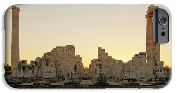 Temple Of Apollo IPhone Case by David Parker