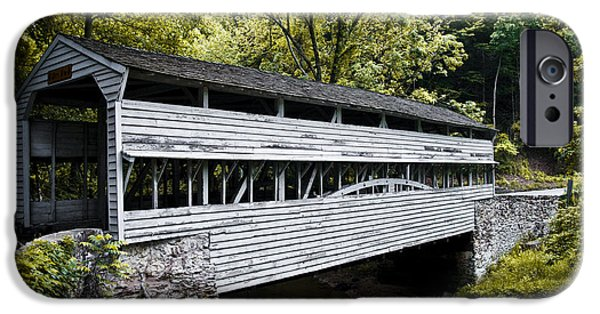 The Covered Bridge At Valley Forge IPhone Case by Bill Cannon