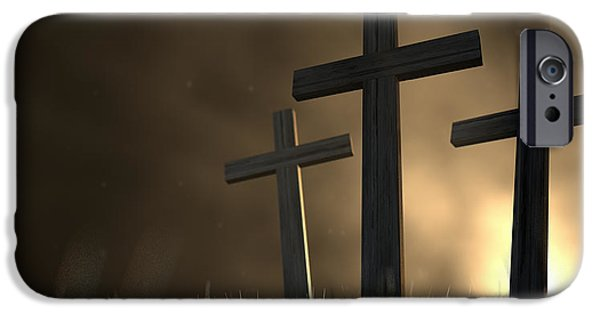 The Early Morning Crucifixion IPhone Case by Allan Swart