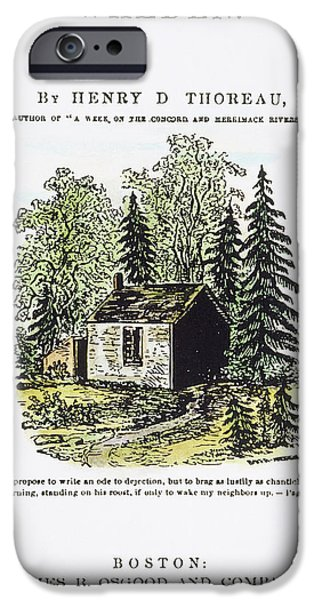 Thoreau Walden, 1875 IPhone Case by Granger