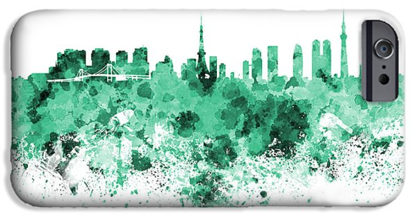 Tokyo Skyline In Watercolor On White Background IPhone 6s Case by Pablo Romero