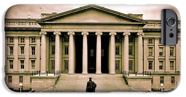 United State Treasury Building IPhone Case by Mountain Dreams