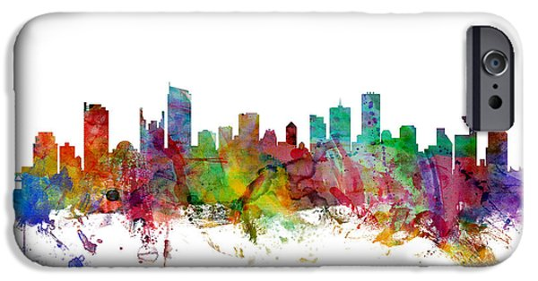 Vancouver Canada Skyline IPhone Case by Michael Tompsett