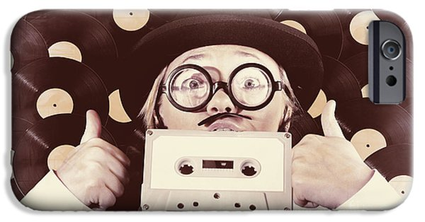 Vintage Music Woman Giving Thumb Up To Retro Songs IPhone Case by Jorgo Photography - Wall Art Gallery